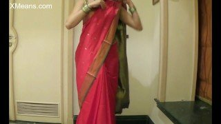 Wear sari like an air hostess